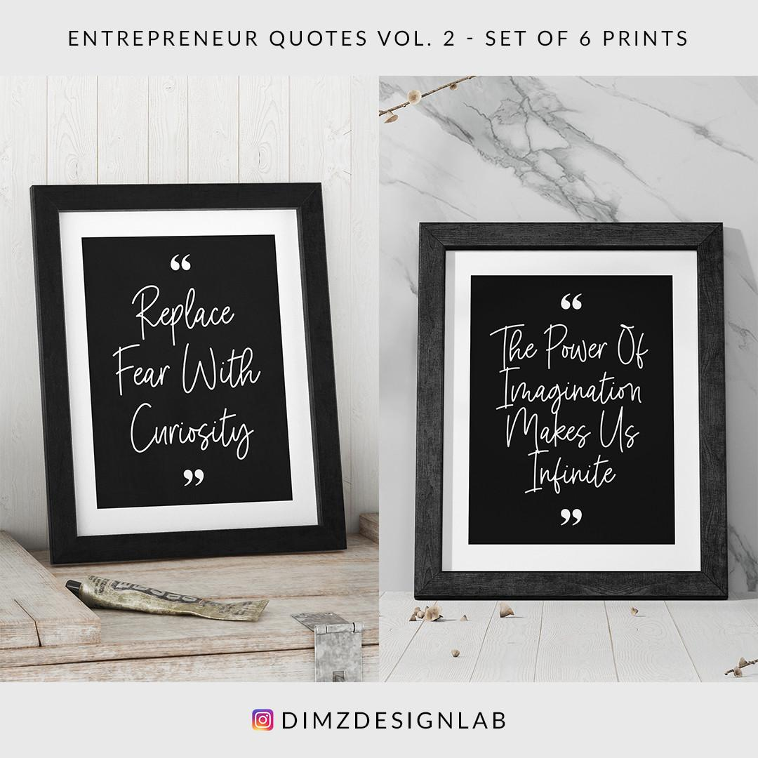 Entrepreneur Quotes Vol. 2, Set of 6 Prints, Digital Download, Art Print, Wall Art, Wall Decor, Wall Hanging