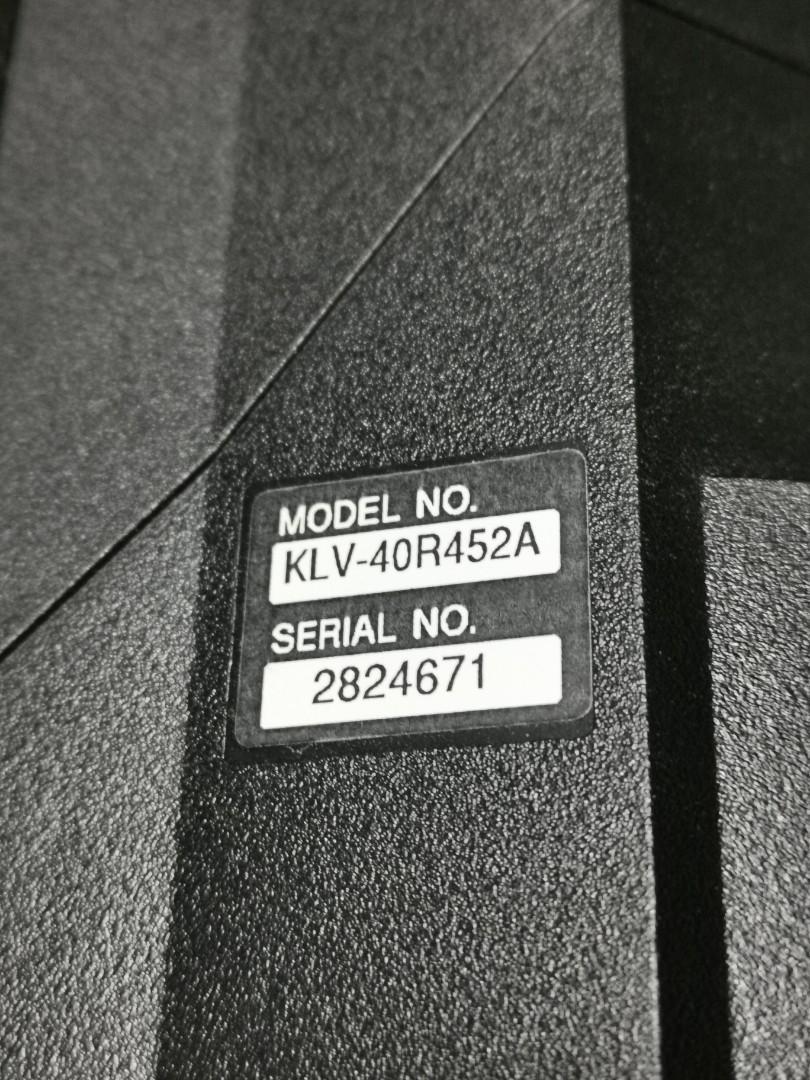 FAULTY Sony TV (KLV-40R452A)