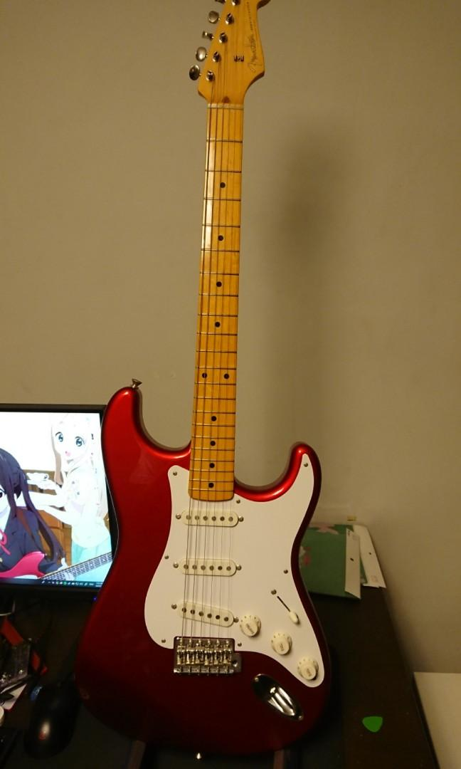 Fender Japan Traditional 50s Stratocaster Candy Apple Red MIJ Electric Guitar (please read description)