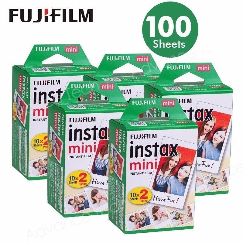 Fujifilm Instant Instax white mini film 100 sheets