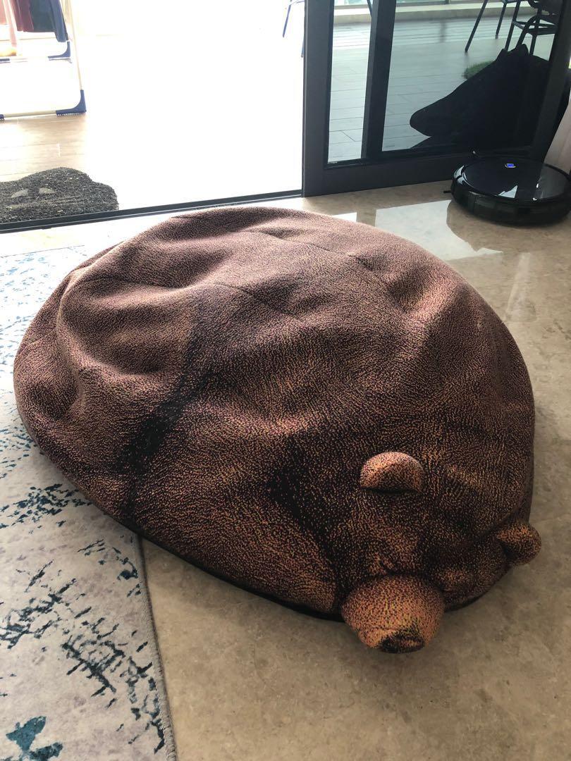 Enjoyable Grizzly Bear Bean Bag Furniture Home Decor Cushions Machost Co Dining Chair Design Ideas Machostcouk