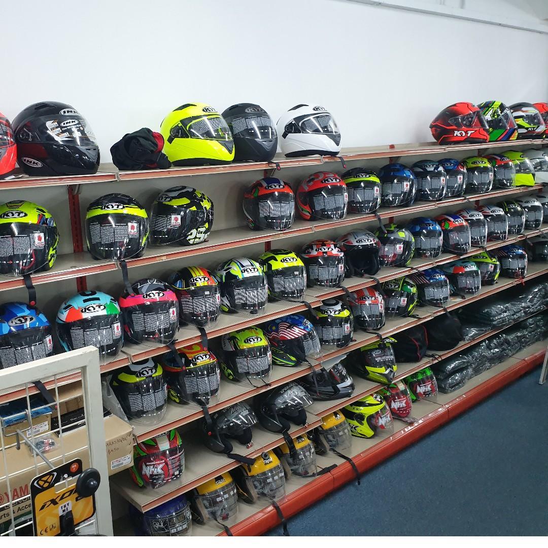 KYTs, Arai and various helmets