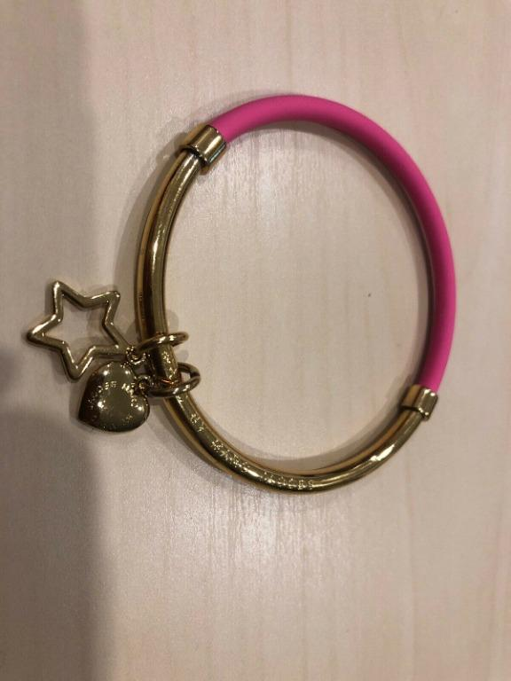 Marc By Marc Jacobs Rose Gold And Pink Bracelet Bangles As New