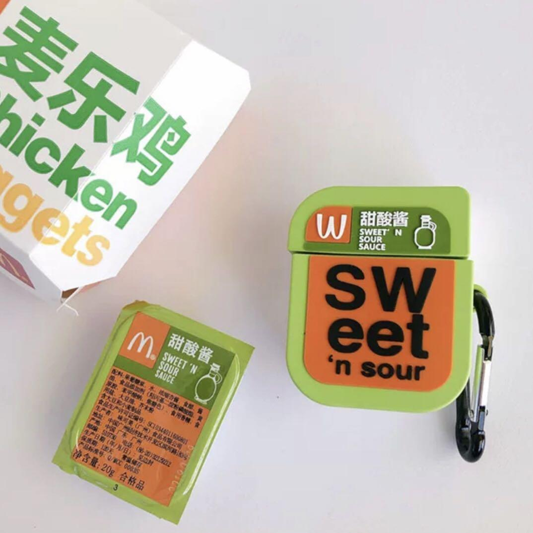 Mcdonald S Nuggets Sauce Airpods Case Mobile Phones Tablets Mobile Tablet Accessories Cases Sleeves On Carousell