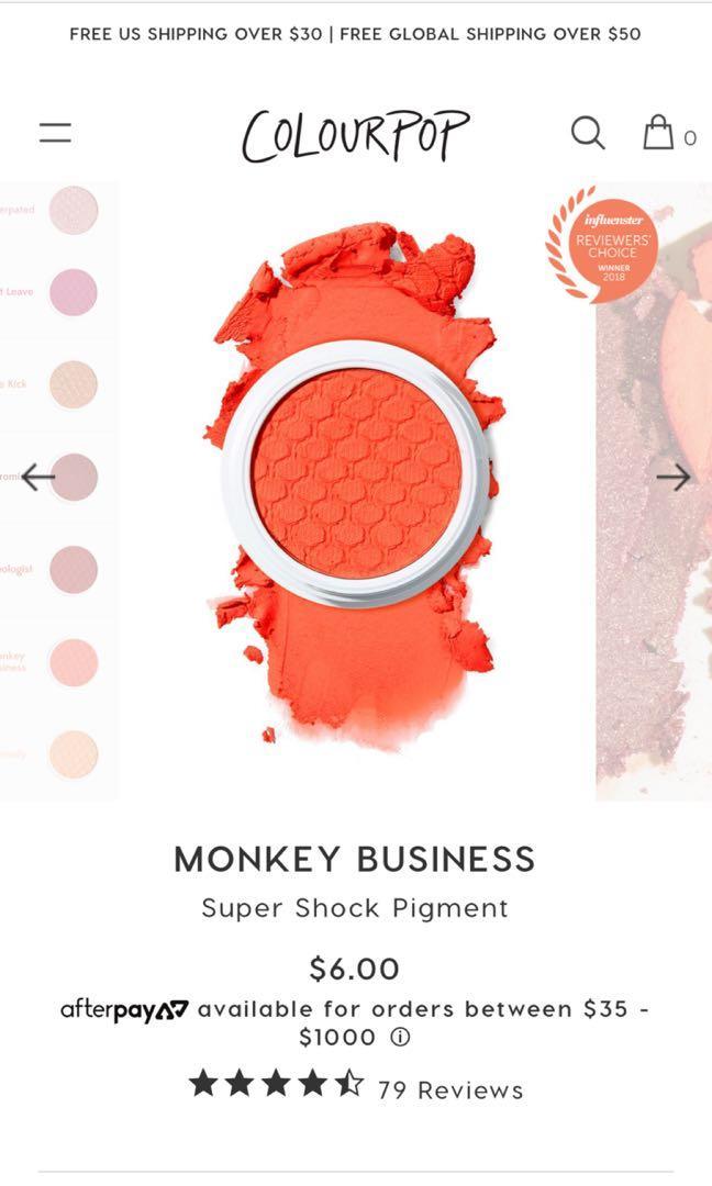 Monkey business - Colourpop super shock presses pigment