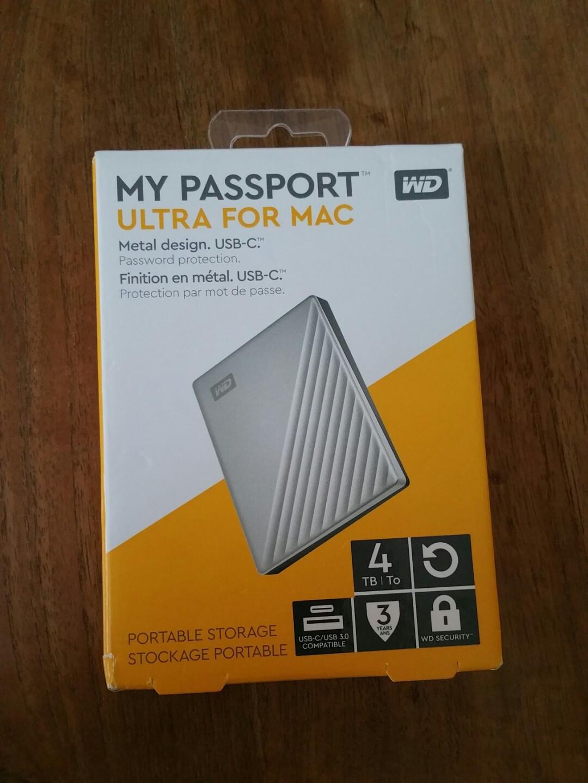 My passport ULTRA 4TB portable hard drive HDD WD western