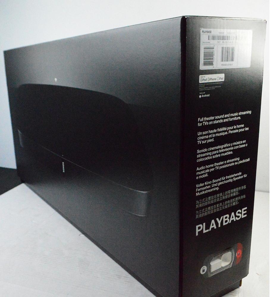 NEW SONOS BLACK WIFI PLAYBASE TV STAND SPEAKER PBASEUS1BLK