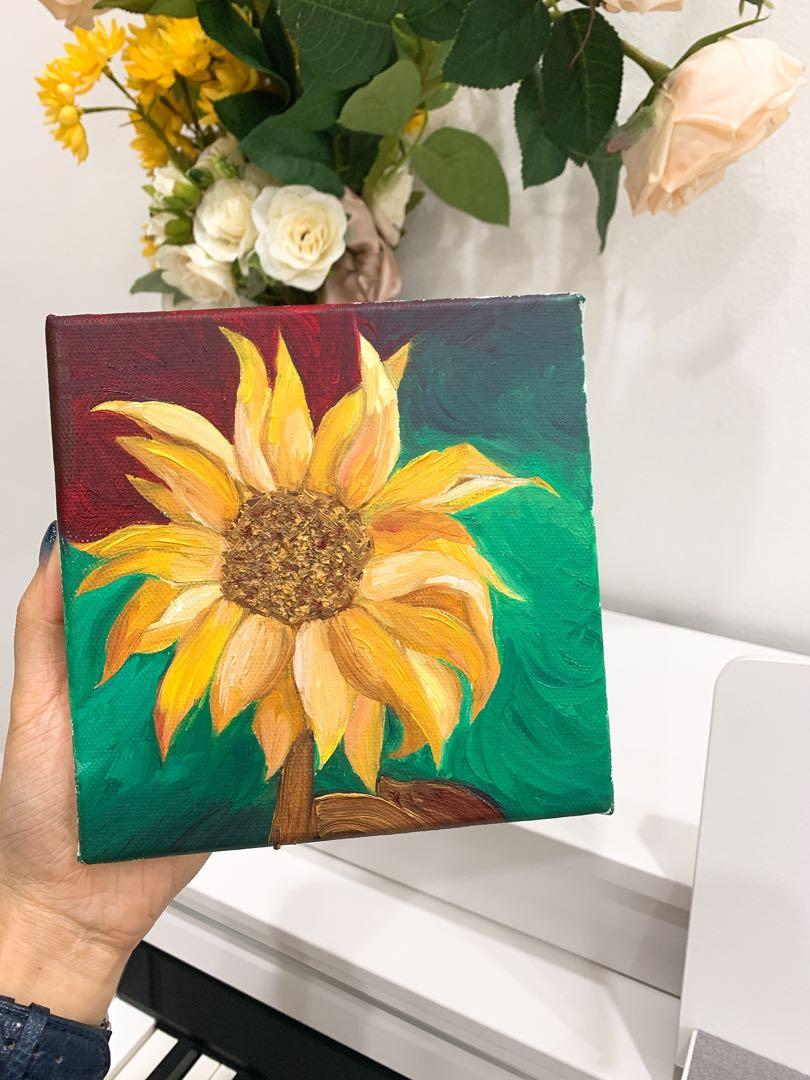 Handmade sunflower Painting