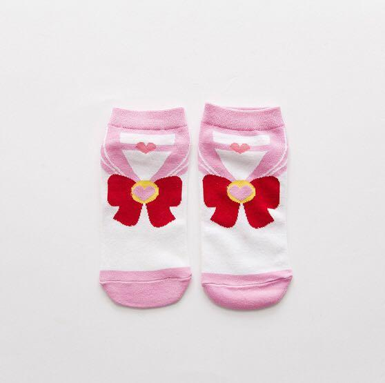 Pink Cute Sailor Moon Ankle Socks Female Heart Cotton 1 Pair