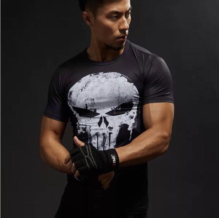 Punisher Gym Or Exercise compression top