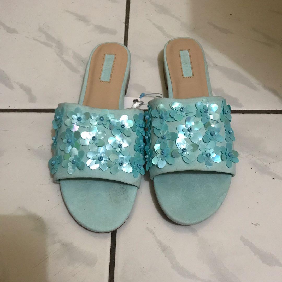 Sandal Slop Forever 21 biru