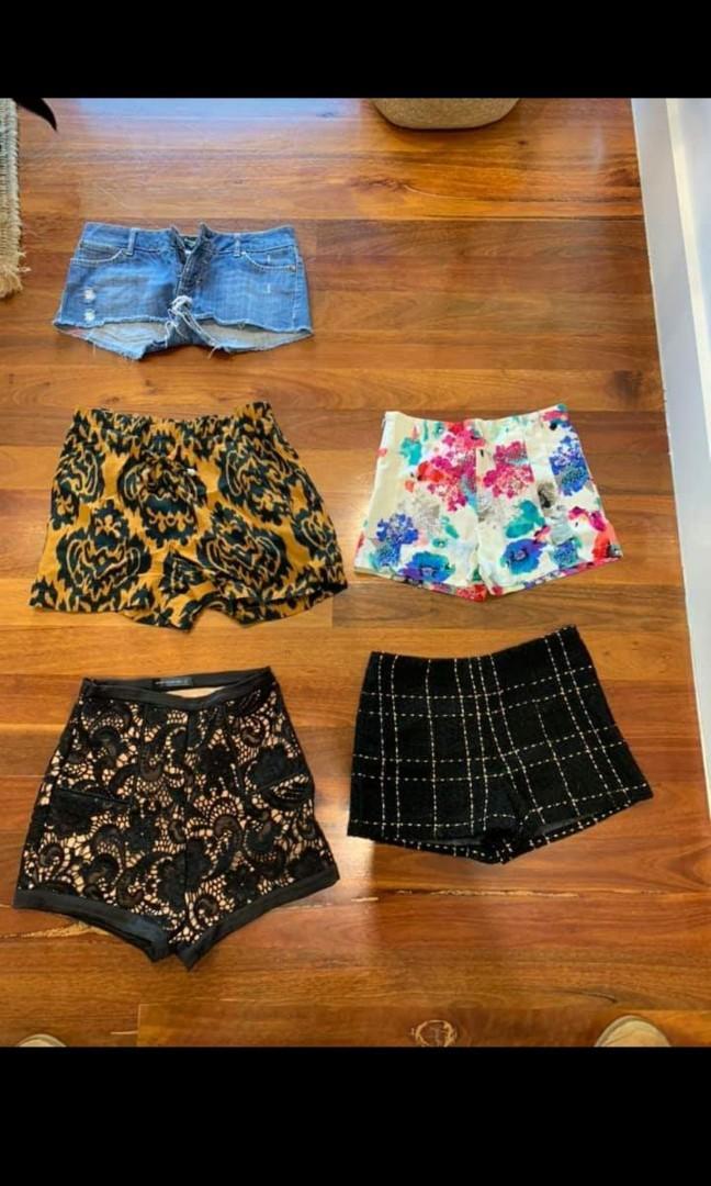 Shorts for summer holidays Bali beach Thailand europe size 8 or small designer misha high street