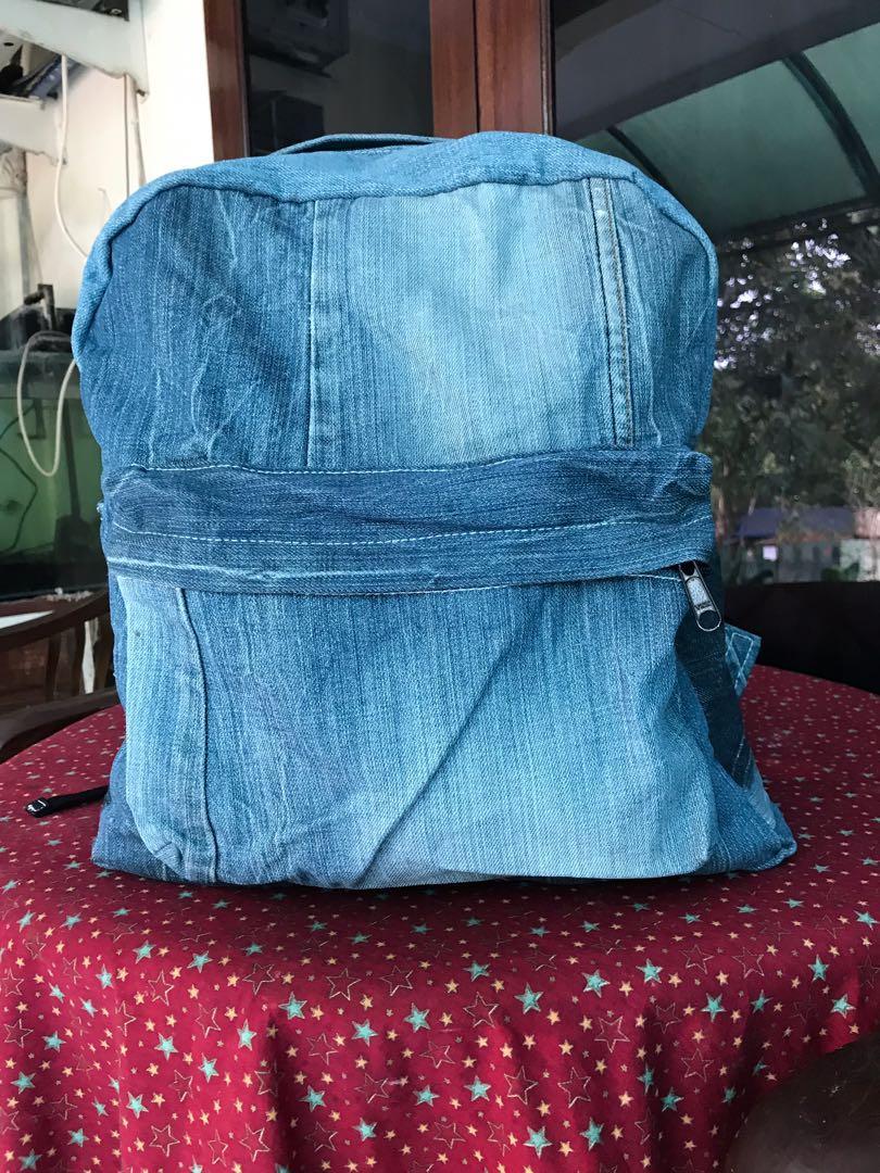 Tas Punggung Ransel Backpack Jeans