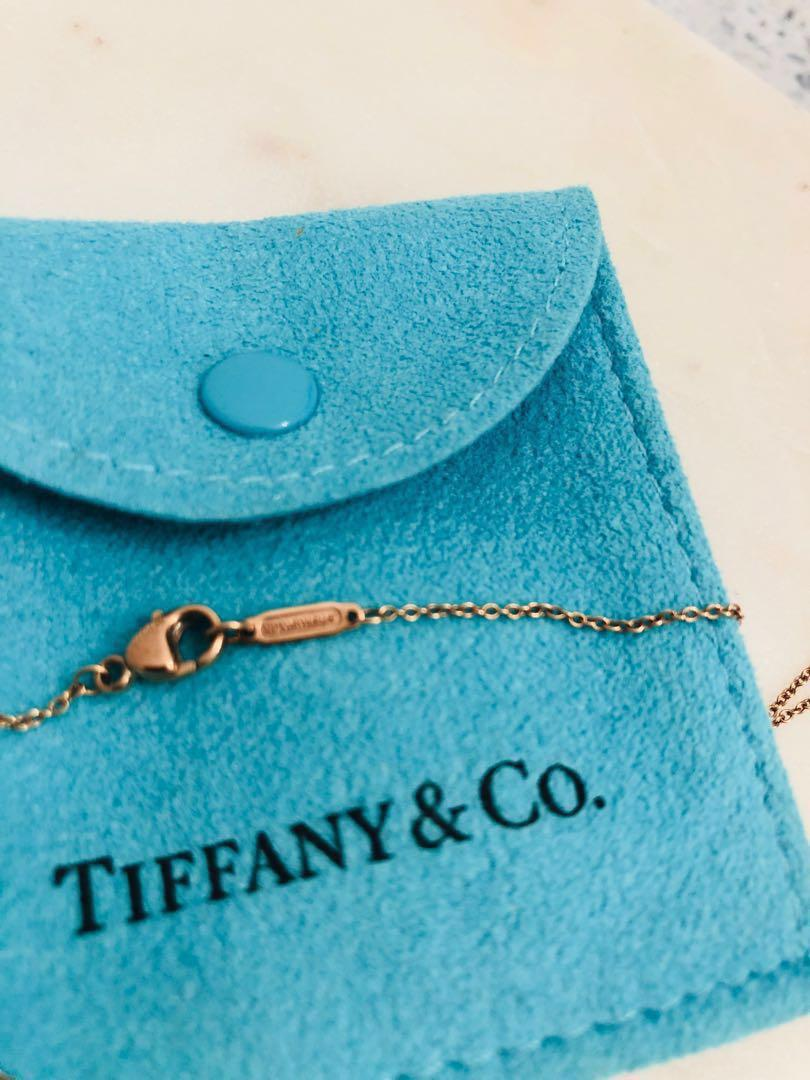 "Tiffany and Co. (Rubedo) Enchantment chain on 16"" chain. New condition."