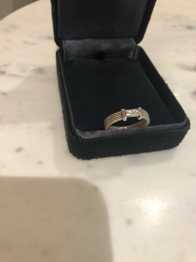 Tiffany Somerset Diamond Ring. Size 5. Not Negotiable. Comes with a pouch only.