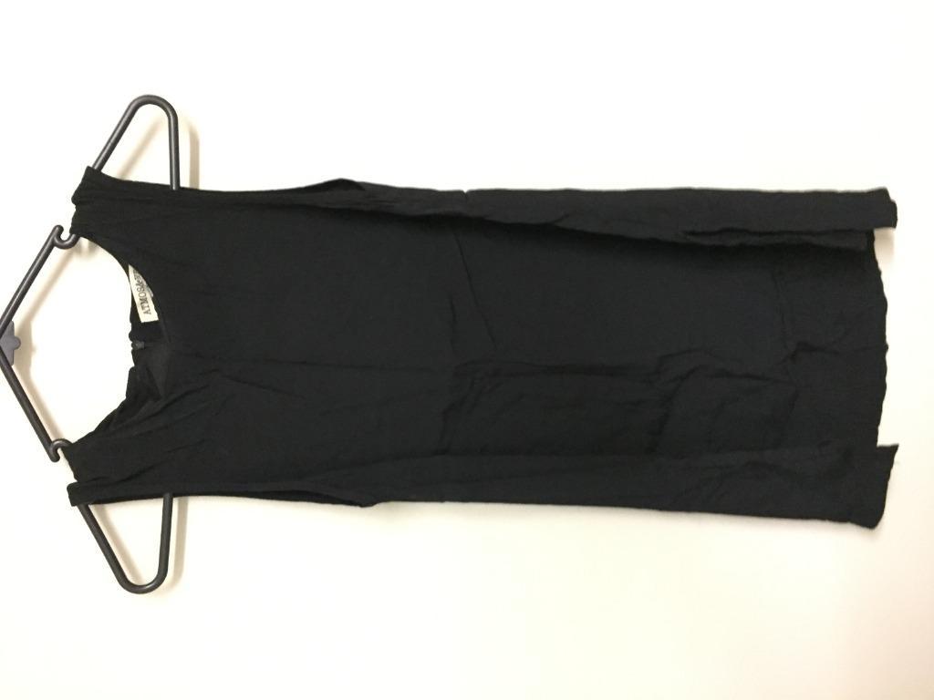 Womens Atmosphere Black Long Sleeveless Shirt Dress 8