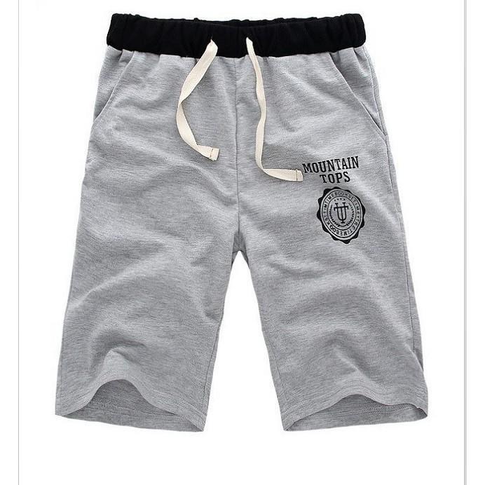 休閒短褲-灰XL(腰圍最大拉長51cm,褲長48cm)