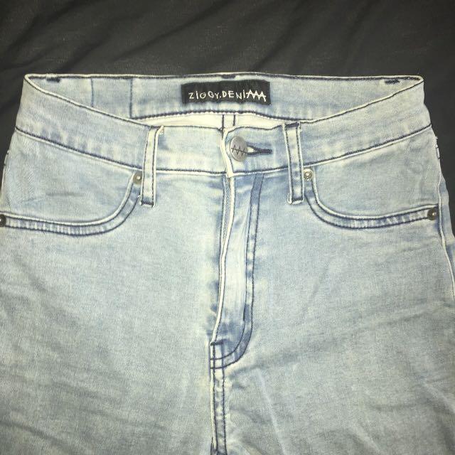 Ziggy Denim Light Washed Blue Skinny Jeans Size 24