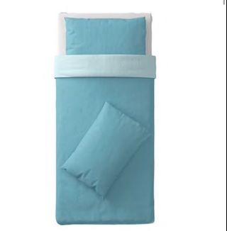 IKEA 單人棉被 被套 藍色  近全新