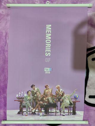 BTS Memories 2018 Wall Scroll