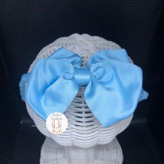 Preloved Simple Blue Satin Bow
