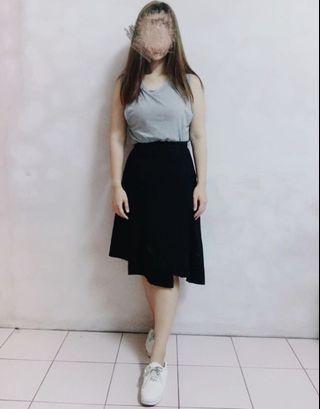 不規則剪裁裙襬修身裙
