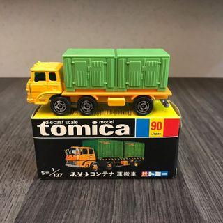 Tomy Tomica tomytec 黑箱 黑盒 青盒 90 Fuso Container Transporter 貨櫃車 日本製造 made in Japan Ferrari Toyota Lamborghini truck Hino Mitsubishi