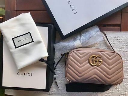 Gucci Marmont Matelasse Camera Bag (small)