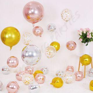 Round Shiny Foil Balloon Party Decoration