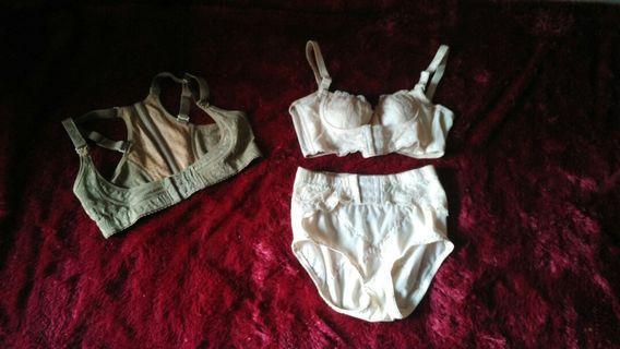 Set push up bra & CD korset pelangsing , Kozui infrared breast up