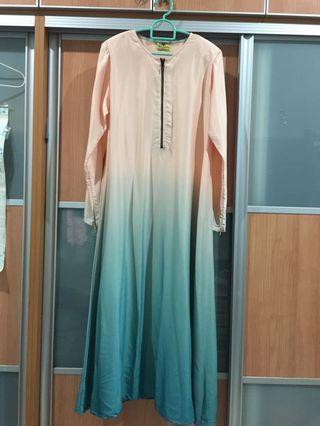 Peach Ombre Jubah/dress