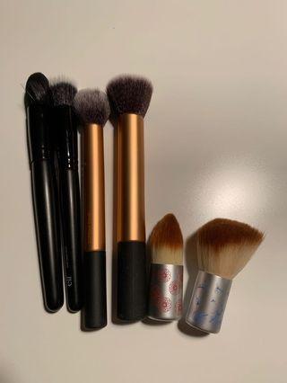 Mix of Makeup Brushes