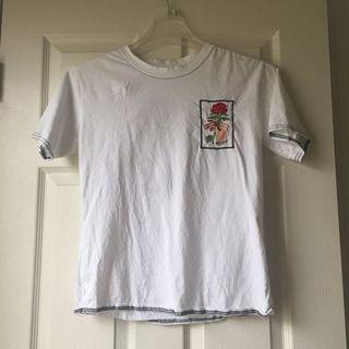embroidered rose t shirt (white)