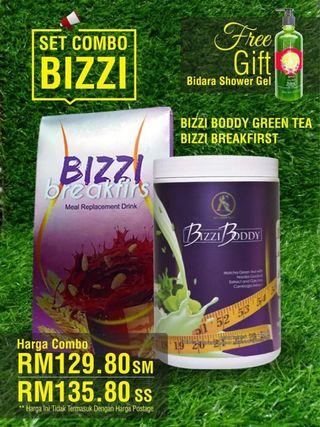 Bizi body green tea ( set kurus )