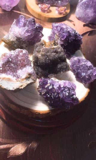 頂級ESP異象細晶+紫水晶精華晶花盤