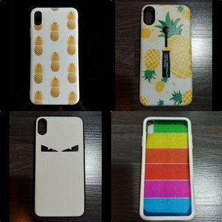 $5 iPhone Xs Max Cover Case Pineapple Rainbow