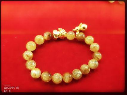 999 Pure gold Baby Pixiu With Charm