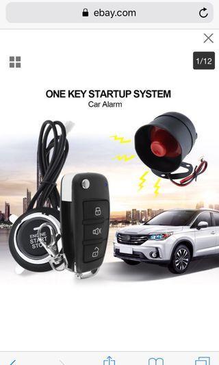 Car Ignition Alarm System Engine Start Push Button Keyless Entry Starter Key Kit