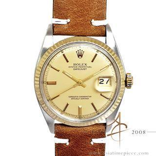 Rolex Datejust 1601 Rare Matte Gold Dial Vintage Watch (1978)