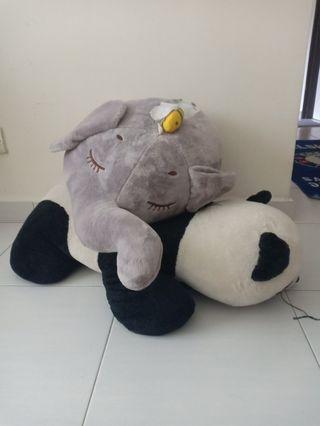 Soft Toy BIG Panda and elephant