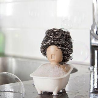 以色列Peleg Design沐浴女王海綿菜瓜布收納架(Soap Opera - Dish Scrubber Holder)