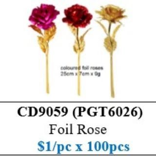 Children's Day Special - Foil Rose ($100/100 stalks bundle) HSEN