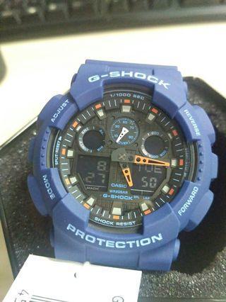 G Shock Men's Blue GA-100L-2A