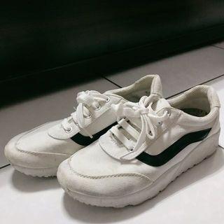 帆布增高鞋24.0