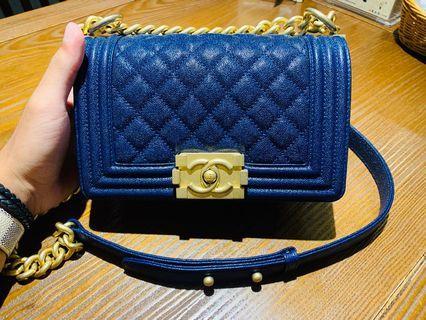 Chanel boy mini 20 (閃電藍-寶藍-藏青藍) 26開 「98新」