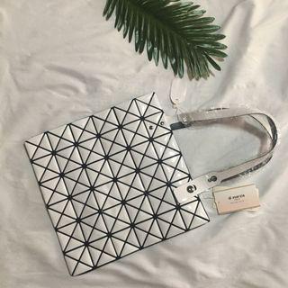 全新Di marzia幾何格紋菱紋手提包