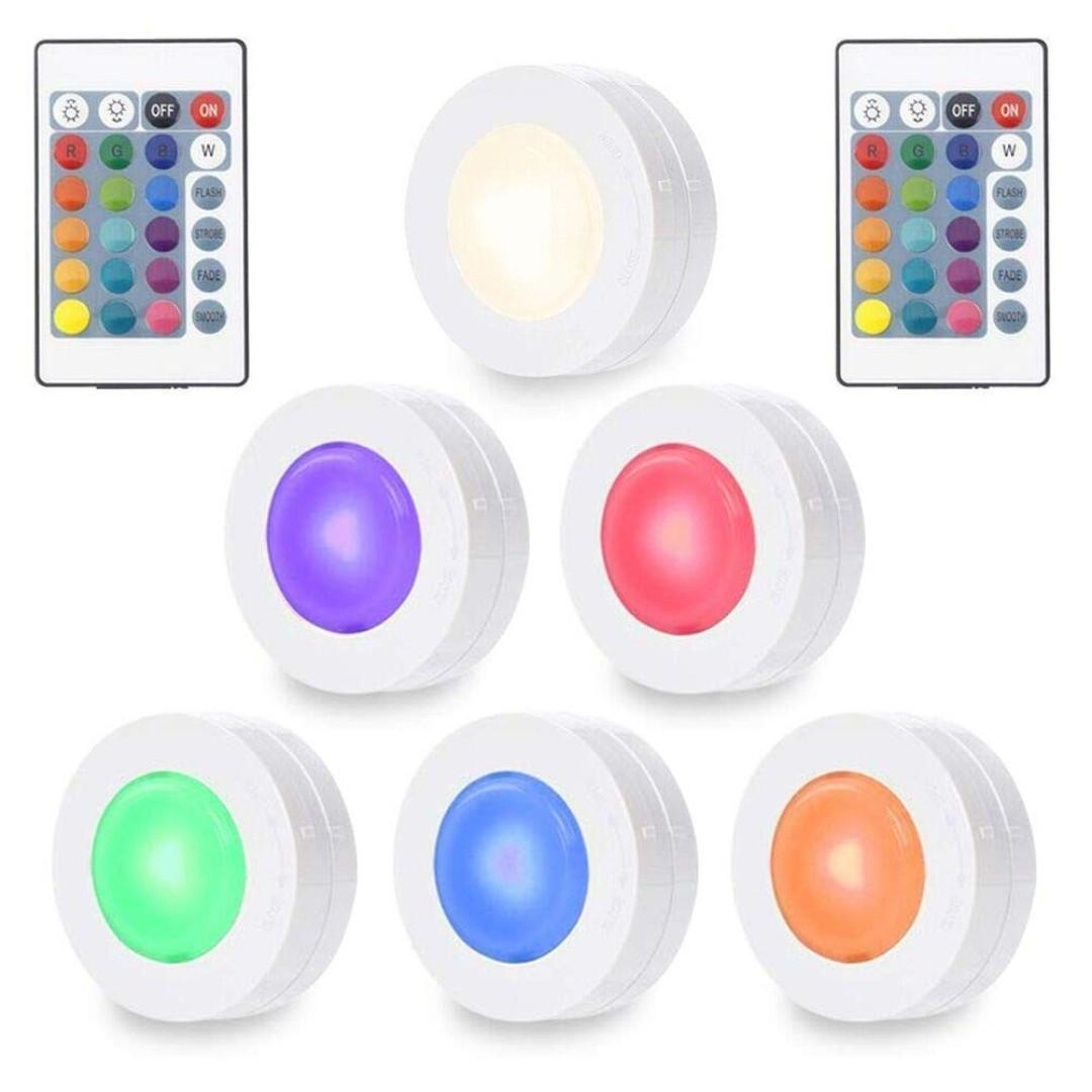 Solled Wireless Led Puck Lights Rgbw