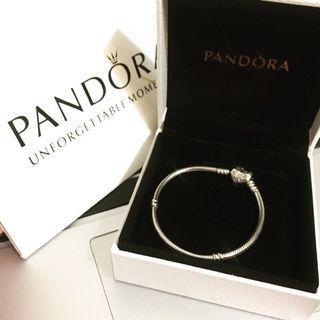 Pandora 手鍊 心型蛇鏈 925純銀(🉐️降價優惠:原$1,990)