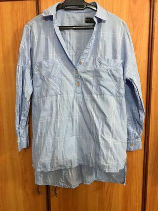 Rope Woman Blue Checkered Blouse
