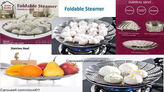 Steamer / foldable steamer / plate